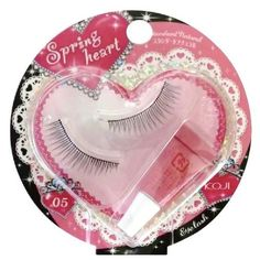 Koji Spring Heart False Eyelashes (No. 5 Standard) by Spring heart. $7.99. | IMPORTANT NOTICE | Made for Japan market and in a Japanese retail package. Manual(s) is in Japanese only.. Different lengths of false eyelashes emphasize natural but impressive lashes. Length:2, Thickness:2, Effectiveness of Eyeline: 2. Comes with a special glue. Made in China.* Picture may be of different variation