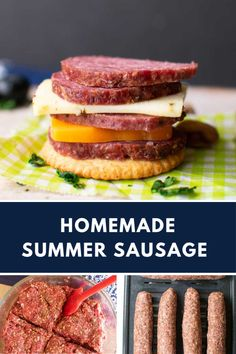 beef sausage This Summer Sausage Recipe is a million times better than the kind you buy at the store! It's easy to make and you won't need any special equipment, just an oven or a smoker! Summer Sausage Recipes, Homemade Summer Sausage, Homemade Sausage Recipes, Homemade Recipe, Jerky Recipes, Beef Recipes, Hamburger Recipes, Smoker Recipes, Drink Recipes