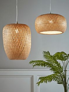 NEW Woven Bamboo Pendant - Small - Pendant Lighting - Ceiling Lights - Lighting #bedroomLightingCeiling Grey Bedroom With Pop Of Color, Bedroom Ideas For Small Rooms Diy, Lounge Lighting, Bedroom Lighting, Girls Bedroom Furniture, Bedroom Wall Designs, Luxury Bedroom Design, Modern Bathroom Decor, Bedroom Vintage