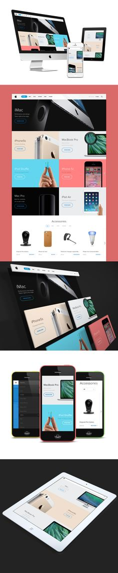 Apple Store Redesign on Web Design Served Web Ui Design, Web Design Trends, Responsive Web Design, Graphic Design, Beautiful Web Design, Modern Web Design, Creative Design, Gui Interface, User Interface Design