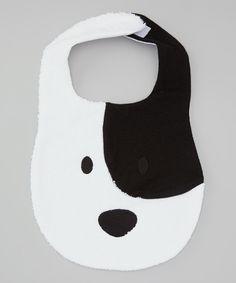Look what I found on #zulily! White Pup Bib by Baby Champagne #zulilyfinds