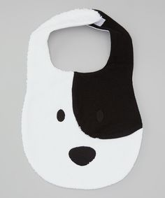 Look what I found on #zulily! White Pup Bib by Baby Champagne #zulilyfinds