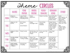 Mrs. Plemons' Kindergarten: Tot School Tuesday: CIRCLES