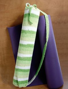 Yarnspirations.com - Lily Stripes Yoga Bag - Patterns   Yarnspirations