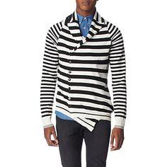 Fancy - Asymmetric stripe cardigan - ALEXANDER MCQUEEN - Knitwear - Menswear - Selfridges | Shop Online