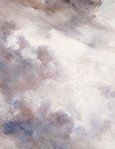 Dark Cloud Study (detail), John Constable, 1821.