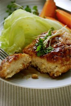 Vegan Chicken Teriyaki/ Steak ingredients for 1 person 3oz boiled soybeans(canned food/You can also use chickpeas instead of soybeans.) 2tbsp potato starch 2 tsp soy sause 2 tsp mirin(or maple syrup) sesami oil Can flavore w BBQ sauce or Italian...
