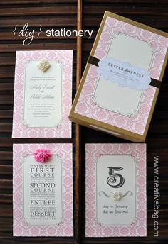the creative bag blog: {diy} stationery inspiration using our stationery kits