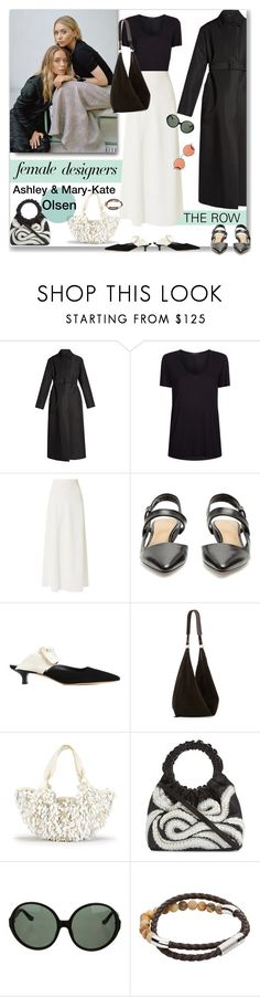"""""""Ashley and Mary-Kate Olsen for """"The Row"""""""" by sylandrya ❤ liked on Polyvore featuring Olsen, The Row, Tateossian, Oliver Peoples, internationalwomensday, pressforprogress, FemaleDesigners and ByWomenForWomen"""