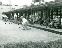 Members of the Orlando Lawn Bowling Club are pictured here in the midst of a game.