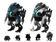 Mech Conzept by Okmer on DeviantArt Character Creation, Character Design, Tactical Suit, Mecha Suit, Suit Of Armor, Futurama, Number Two, Art Tutorials, One Pic