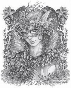 Masquerade:  Drawing WhimSea by Saimain.deviantart.com