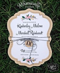 A whimsical invitation by Crystal Print