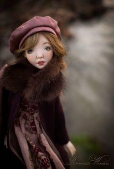 Cecile by Romantic Wonders Dolls Polymer Clay Dolls, Handmade Polymer Clay, Handmade Art, Ooak Dolls, Art Dolls, Handicraft, Winter Hats, Romantic, Disney Princess