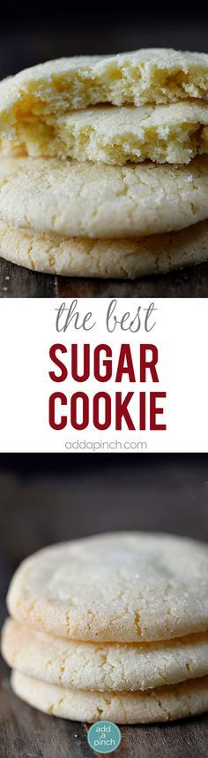 The Best Sugar Cookie Recipe - Sugar cookies make a favorite little cookie recipe for so many. Get this family-favorite recipe for chewy sugar cookies that everyone is sure to love. // http://addapinch.com