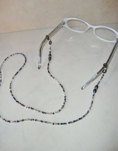 7e5f22dbf91b Beaded Eyeglass Holder Eyeglass Chain Handmade by CoastalCreationz