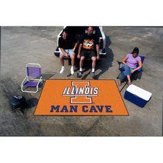 Illinois Fighting Illini NCAA Man Cave Ulti-Mat Floor Mat (60in x 96in)