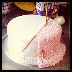 A different angle on the knitting cake idea