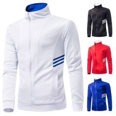 - Mens slim sports zip-up sweater for the stylish fashionista - Beautiful design offers a cute stylish look - Great for a casual day out or special occasion - Made from high quality material - Available in 4 colors