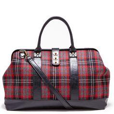 Cute plaid handbag.