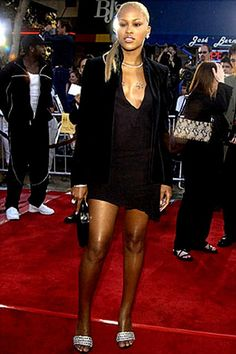 Eve on the red carpet wearing Lloyd Klein