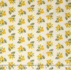 Bandana Florals  Ashley Yellow Yardage by Dover Hill for