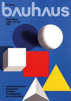 View 50 JAHRE BAUHAUS by Herbert Bayer on artnet. Browse upcoming and past auction lots by Herbert Bayer. Art Bauhaus, Design Bauhaus, Bauhaus Style, Herbert Bayer, Wassily Kandinsky, Color Concept, Text Poster, Art Nouveau, Art History
