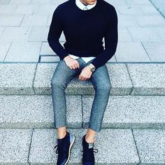 8af0ba0729a 44 Best Crew Neck Sweater images in 2017   Fashion, Mens fashion, Style