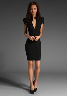 BLACK HALO Hanna Mini Dress in Black at Revolve Clothing - Free Shipping! for Mary size small or 0/2