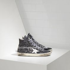 Golden Goose Francy Sneakers In All Over Coated Glitter Leather And Leather  Star www.goldengoosestar 91a786787b