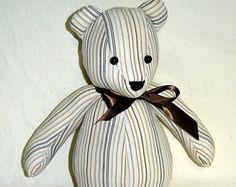 Keepsake Bear Memory Bear Teddy Bear Made from by SewnbyHannah