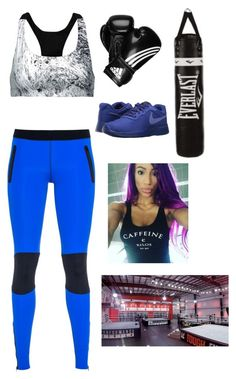 Working out with Sasha Banks by wweoutfitz on Polyvore featuring Ultracor, Koral, NIKE, adidas, Everlast and WWE