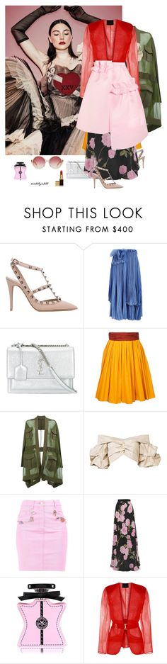 """The sky's the limit ..."" by katelyn999 ❤ liked on Polyvore featuring Valentino, Rochas, Yves Saint Laurent, Paule Ka, Balmain, Johanna Ortiz, Moschino, Giambattista Valli, Bond No. 9 and Paskal"