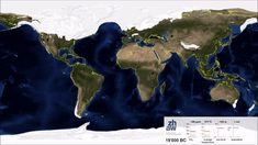 Map of Earth from 19000 BC to 3000 AD: Watch the ice melt, the sea level rise, and the vegetation grow