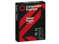 CEB CE Super white A4 210 x 297mm laser and inkjet Offers a constant level of reliability on all types of copiers and printers.Suitable for use on high speed machines and for one and two sided copyingPerfect results in black and white and colourManufa http://www.comparestoreprices.co.uk/office-supplies/ceb-ce-super-white-a4-210-x-297mm-laser-and-inkjet.asp