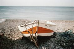 A boat by the sea...