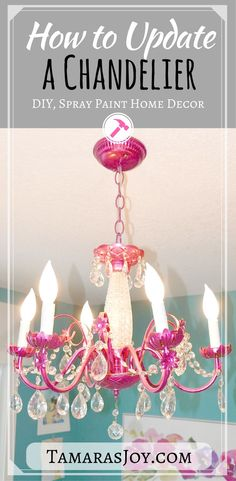 Check out this Chandelier update! Super easy diy that makes a huge impact. Tamarasjoy.com