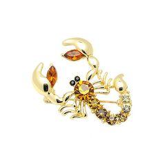 New Arrival Scorpion Brooch Classic Scarf Brooch Zinc Alloy Rhinestone Jewelry Brooch Pin Bridal Wedding Crystal Animal Brooch