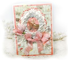 Scrap Escape card using Prima Bedtime Story collection and resin.