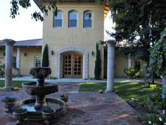 Beautiful Tuscan ambiance inside and out at Trentadue Winery in Sonoma's Alexander Valley.