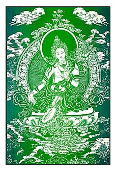 how can i incorporate prayer flags?  Green Tara ~ Cloth Print | Prayer Flags