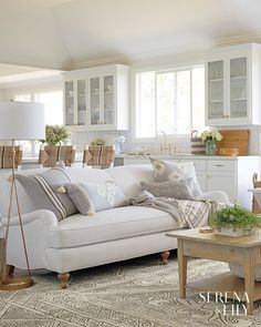 Excellent Farmhouse Living Room Sofa Design Ideas And Decor For YOur Home ~ Coastal Living Rooms, Living Room Grey, Home And Living, Living Room Furniture, Living Room Decor, Modern Furniture, Small Living, Rustic Furniture, Modern Living