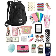 Back to school necessities Untitled #24 by gigifiacco on Polyvore featuring polyvore, fashion, style, The North Face, Lilly Pulitzer, Fendi, Maybelline, Eos, Pinch Provisions, Kate Spade and Paper Mate