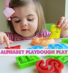 Alphabet Playdough - 3rd post in the Alphabet For Starters series .      How do your kids like to play with playdough?