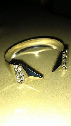 Spiked cuff bracelet #fashion #asos #chic #bangle