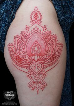 Red Mandala Ink Tattoo on Arm is the best Arm Tattoos for women. It is rarely found people inking a complete red color tattoo. One of our client wanted this unique tattoo on arm. S Tattoo, Mandala Tattoo, Tattoo Shop, Color Tattoo, Unique Tattoos For Women, Unique Tattoo Designs, Arm Tattoos For Women, Red Ink Tattoos, Cool Arm Tattoos