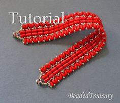 Beaded Treasury: Carmen - beadwoven bracelet with Rulla and Superdu...