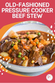 This easy-to-make Pressure Cooker Beef Stew is the perfect cold-weather comfort food! #PressureCookingToday #InstantPot #instantpotbeefstew #oldfashionbeefstew Pressure Cooker Beef Stew, Instant Pot Pressure Cooker, Beef Recipes For Dinner, Instant Pot Dinner Recipes, Chowder Recipes, Chili Recipes, Old Fashioned Beef Stew, Ham And Cabbage Soup, Instant Pot Beef Stew Recipe