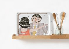 Dancers Tea Tray by Depeapa. $38.00, via Etsy.