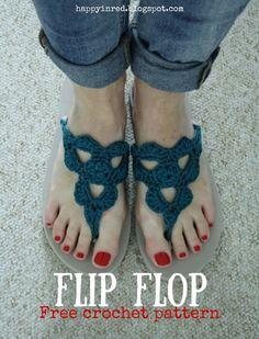 18 Crochet Flip Flops with Free Pattern